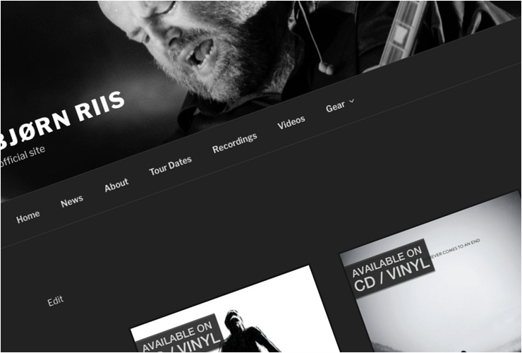 Bjorn Riis - new site